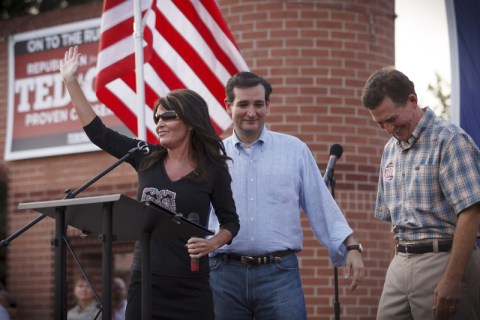 Sara Palin endorse Ted Cruz 2012