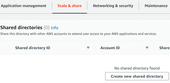 [AWS Managed AD - Create Shared Directory]