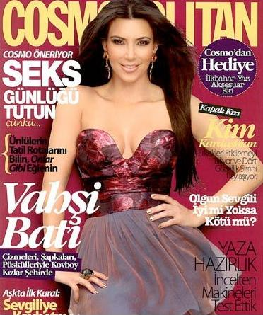 Kim Kardashian Turkish Cosmo Cover