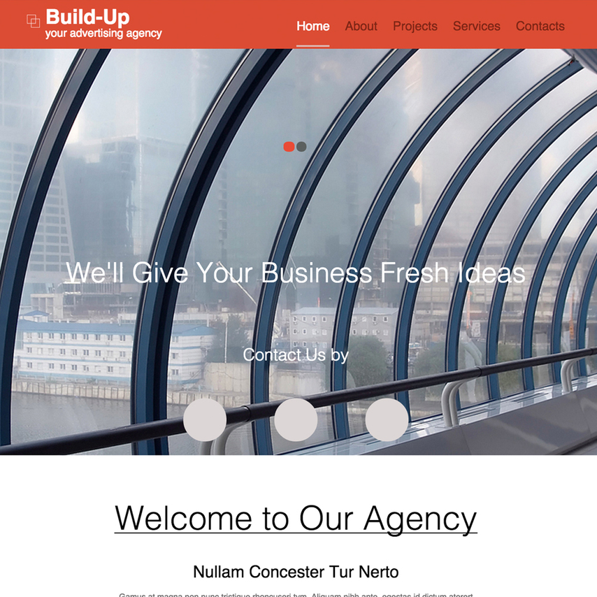 From picking a website ad template, start to upload your products' photos or access over a million stock. Advertising Agency Responsive Website Template
