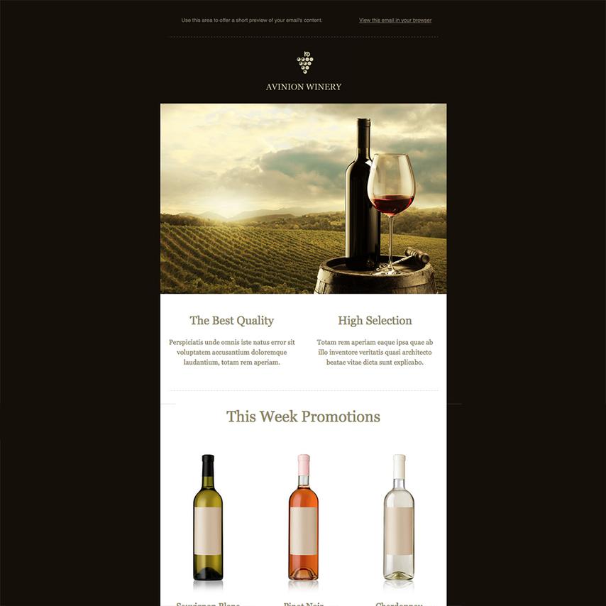 wine website templates