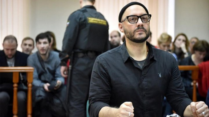 Director Kirill Serebrennikov at a hearing. Source: Anton Kardashov / Moskva News Agency