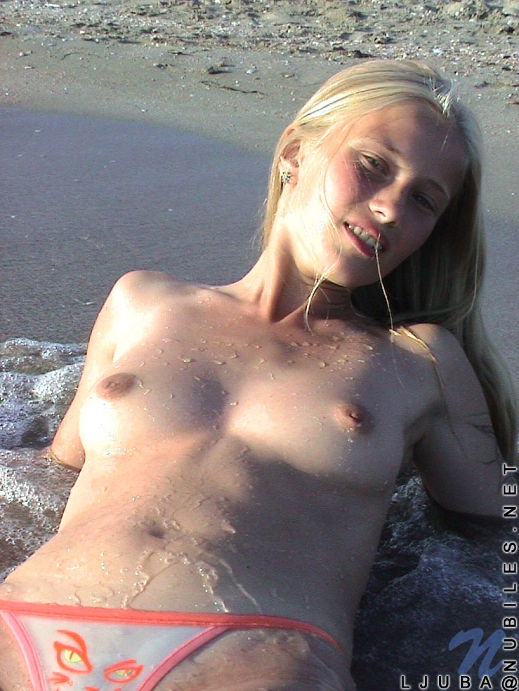 Ljuba nude pics in Beach from NUBILES  theNudeeu