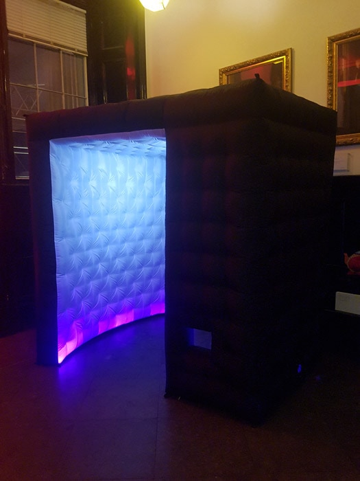 Black LED Inflatable Photo Booth Hire London  Its Slicker than the rest