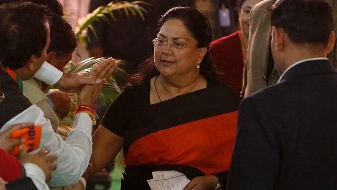 File photo of Vasundhara Raje | Pankaj Nagia | ThePrint