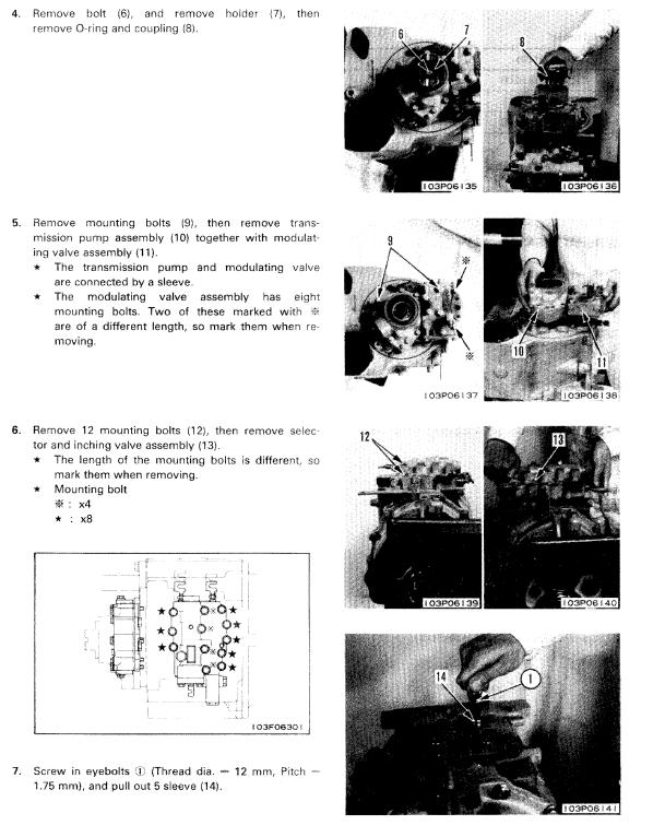 Komatsu D21A-7, D21S-7, D21AG-7, D21QG-7, D21PG-7A Dozer