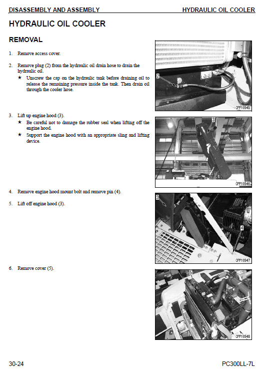 Komatsu Galeo PC300LL-7L Excavator Service Manual