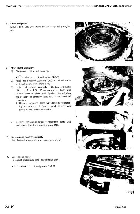 Komatsu D80A-18, D85A-18, D80E-18, D85E-18, D80P-18 Dozer