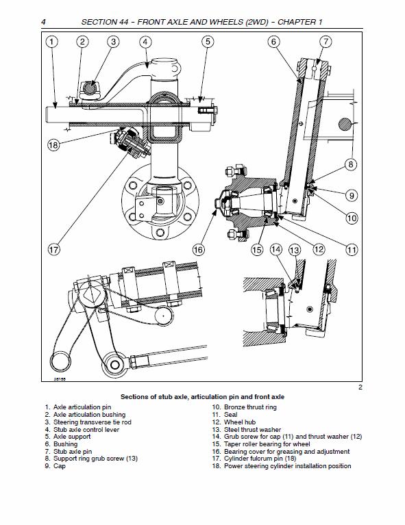 New Holland TD75D, TD95D, TD95D HC Tractor Service Manual