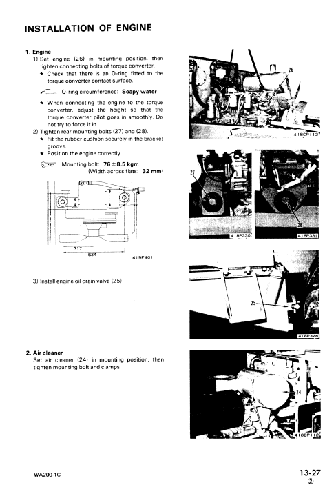 Komatsu WA200-1 Wheel Loader Service Manual