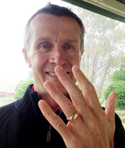 Dave reunited with his grandad's ring