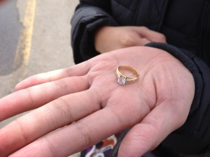 Lost 18k and Diamond Ring Recovered