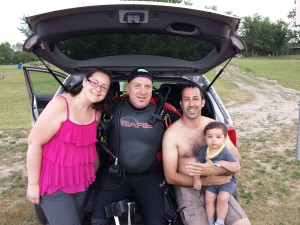 Happy Pietro & family with FOUND ring & Paul ring finder
