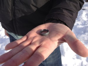 Close Up of Wayes Ring