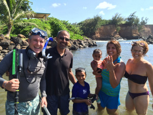 Avesta and Hamid with Brent and Sylvie Madison after finding their lost diamond rings in Hawi on Hawaii's Big Island.