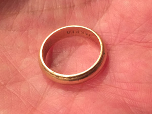 lost wedding ring found in Campbell