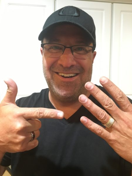 Greg with his lost - and found - wedding ring!