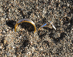 Two lost rings found in Chrissy field in the Presidio, San Francisco