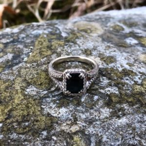 White Gold Ring with Sapphire