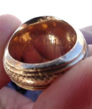 lost ring in snow, Laurel MD gold university ring, Brian - The Ring Returner finds ring in snow
