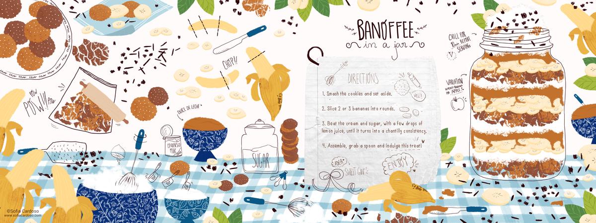 Banoffee in a jar by Sofia Cardoso - They Draw & Cook