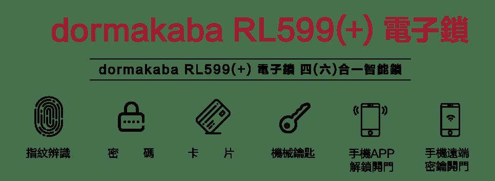 Dormakaba RL599/RL559+ 電子鎖