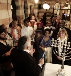 illustrative an interfaith group from the gulf state of bahrain attends hanukkah candle lighting in [ 2048 x 1365 Pixel ]