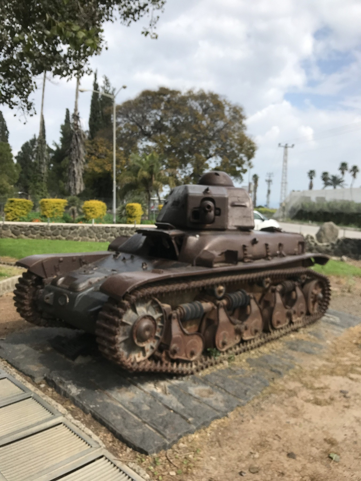 the tank at the