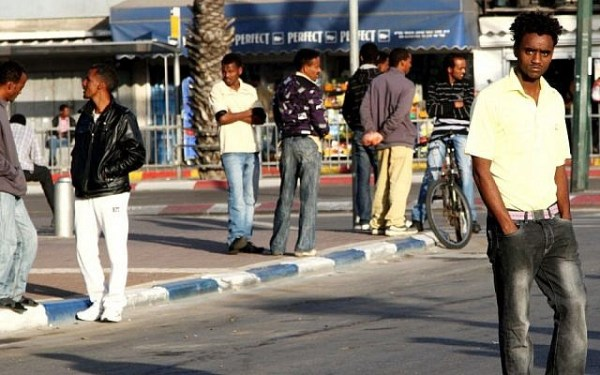African migrants in Tel Aviv (photo credit: Nicky Kelvin/Flash90/File)