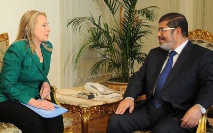 Image result for hillary meets with morsi