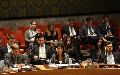 NEW YORK, NY - AUGUST 29: United States ambassador to the United Nations (UN) Nikki Haley walks into a UN Security Council emergency meeting over North Korea's latest missile launch on August 29, 2017 in New York City. The meeting, which was at the request of Japan and U.S. diplomats, comes after the nuclear-armed North fired a ballistic missile over Japan and into the Pacific Ocean on Tuesday. Spencer Platt/Getty Images/AFP