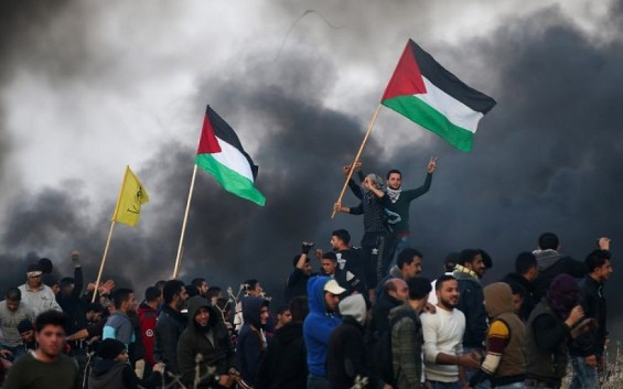 Image result for Israeli forces martyr two Palestinians in Gaza border protests