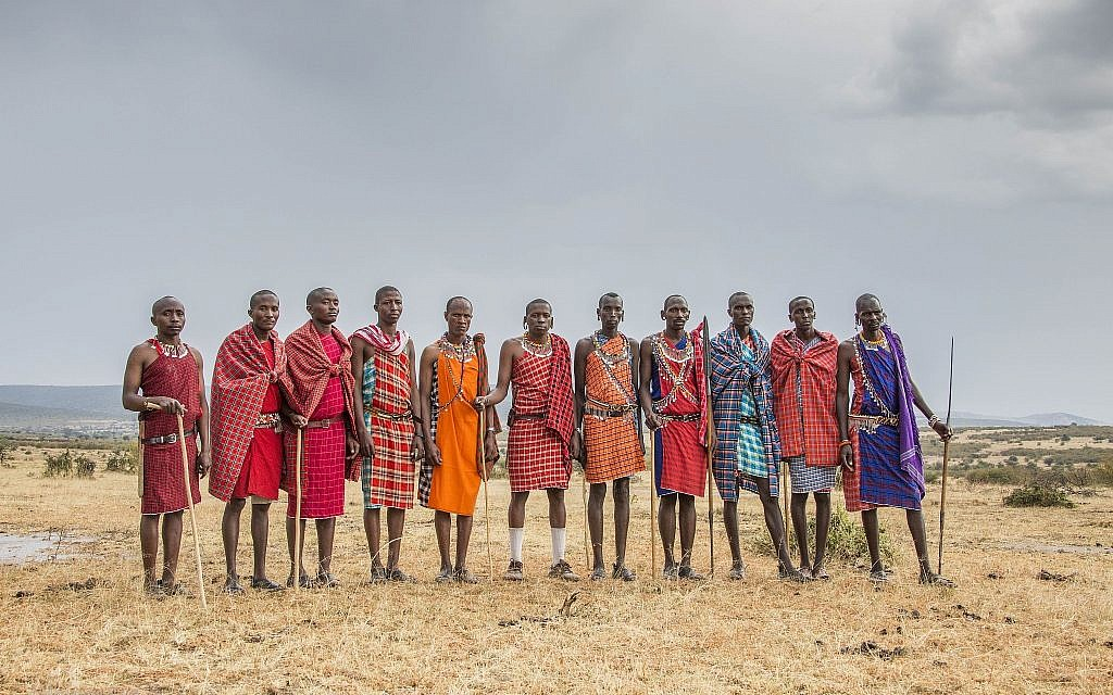 Maasai community members. (Marianne Nord)