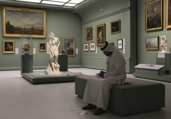 Abu Dhabi' Louvre Leaves Qatar Map Times Of