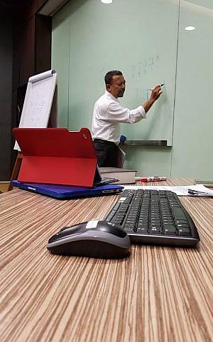 Hebrew teacher Sapri Sale in Jakarta, February 2018 (Conny Dwirani)