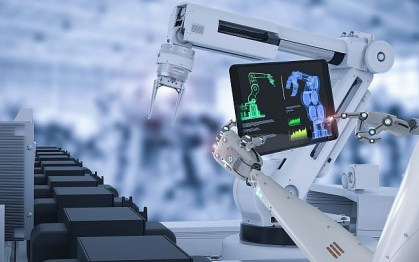 Illustrative image of robots in the manufacturing process (PhonlamaiPhoto; iStock by Getty Images)