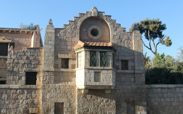 The Tabor House, designed by Conrad Schick, a missionary, craftsman and archaeologist. Schick is buried at the Jerusalem Protestant Cemetery. (Shmuel Bar-Am)