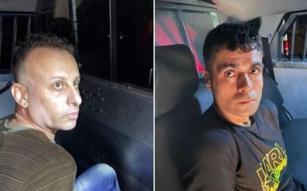 Deux des six détenus qui se sont évadés de la prison de Gilboa, Yaquob Qadiri (L) et Mahmoud al-Arida, vus après avoir été repris dans la ville de Nazareth, dans le nord du pays, le 10 septembre 2021 (Police)