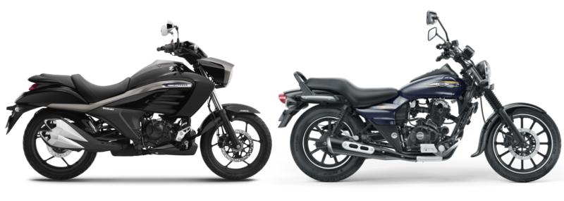suzuki: Suzuki Intruder 150 vs Bajaj Avenger 150 Street