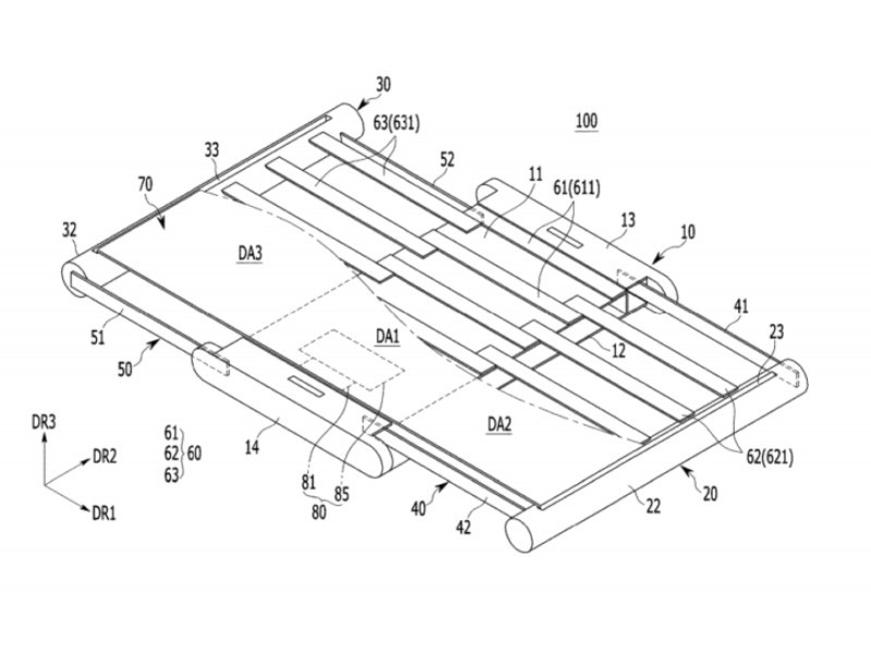 Samsung files patent for rollable smartphone displays