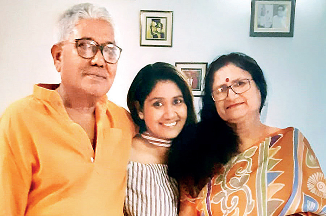 Debalina Ghosh took some time to get used to living with her parents