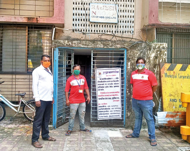 R Central ward officials recently lodged a police complaint against a 55-year-old resident of the building, saying he ventured out for work despite his floor being sealed