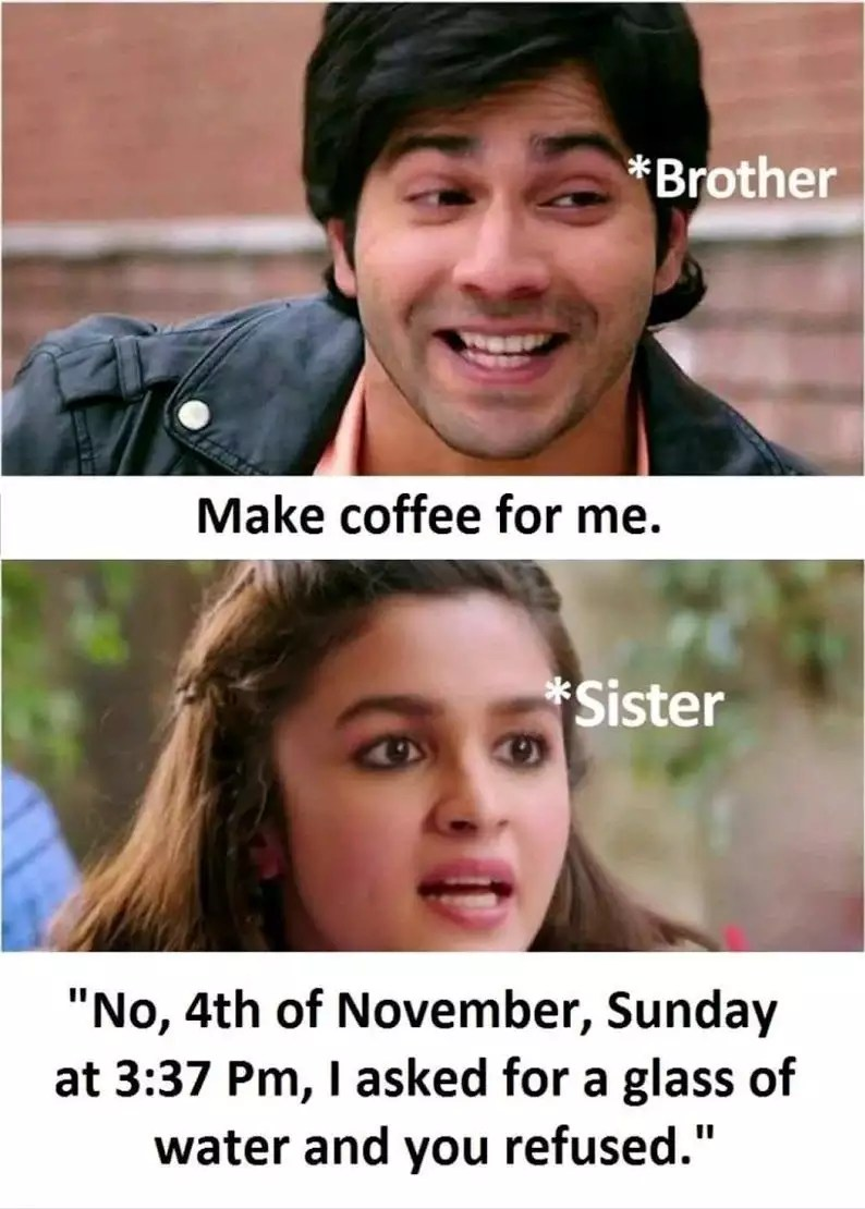 Brother Sister Funny Quotes : brother, sister, funny, quotes, Instagram, Captions, Brother, Sister, Pictures, Hindi, Chastity