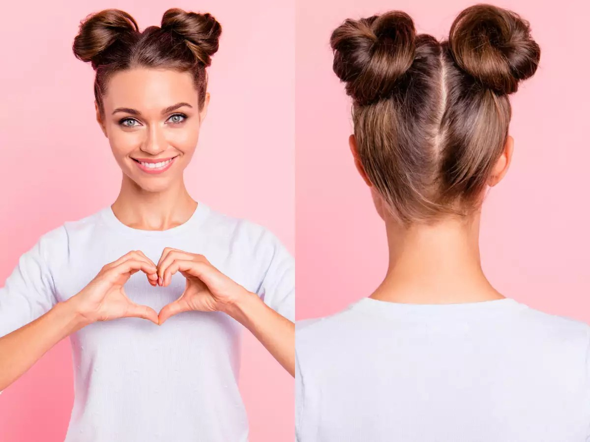 Heart Shaped Bun To Romantic Updo Last Minute Hairstyle Ideas For