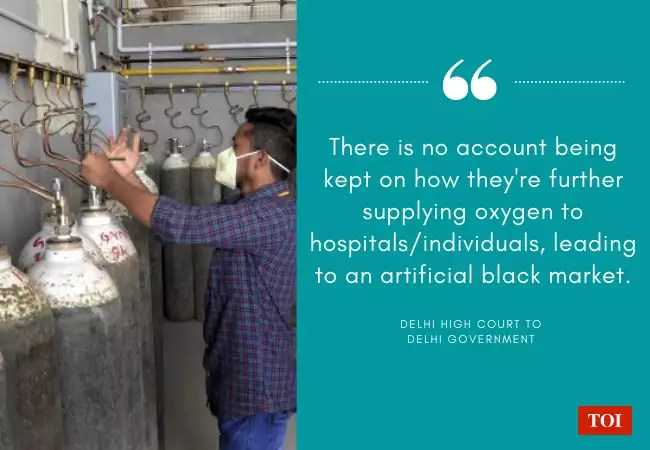 Oxygen crisis in Delhi: Delhi High Court slams govt over black marketing of oxygen cylinders | India News - Times of India | Latest News Live | Find the all top headlines, breaking news for free online April 29, 2021