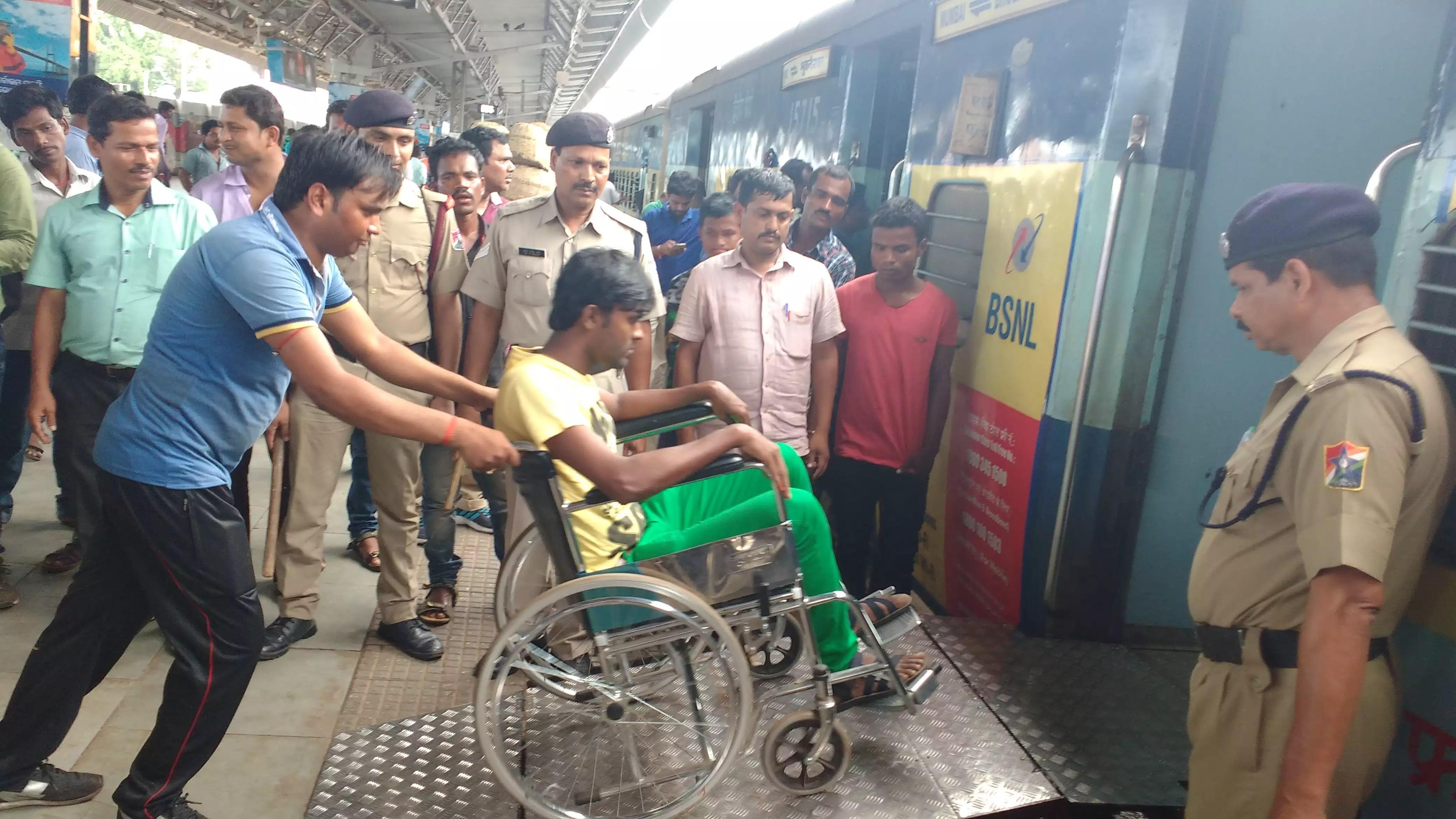 wheelchair gst steel chair flipkart ramp for introduced at bhubaneswar station