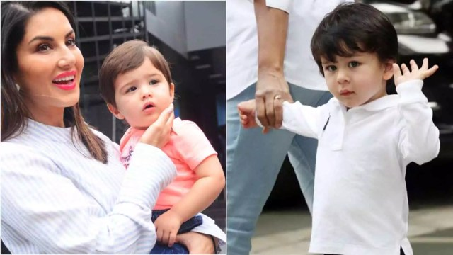 Sunny Leone Son, Sunny Leone's son gets mistaken for Taimur Ali Khan, fans ask 'Is she holding Tim Tim'?