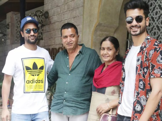 Pics: Sunny Kaushal steps out for a birthday lunch with brother ...