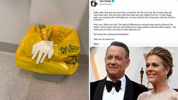 Resultado de imagen de Tom Hanks & Rita Wilson Leave Australia Hospital Five Days After Testing Positive for Coronavirus