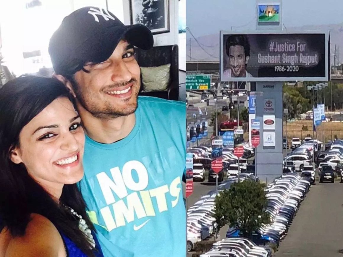 Sushant Singh Rajput's sister Shweta Singh Kirti shares a picture of #JusticeForSushantSinghRajput billboard in California | Hindi Movie News - Times of India